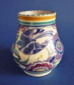 Poole Pottery PB Pattern 'Bluebird' Vase c1930